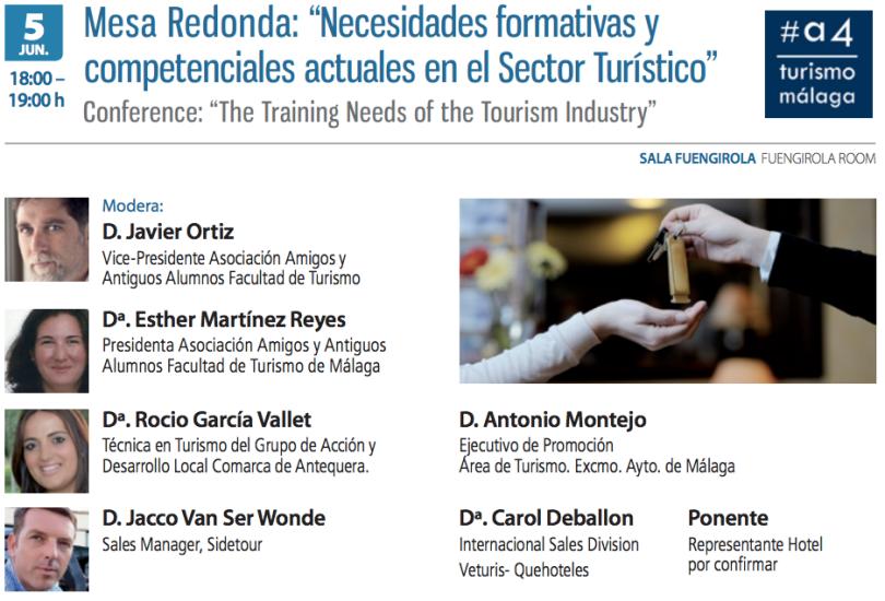 Programa Mesa Debate Necesidades Formativas en Turismo. EUROAL
