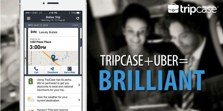 TripCase integra Uber